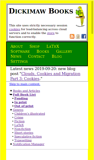 Image of site page displayed in a narrow window.
